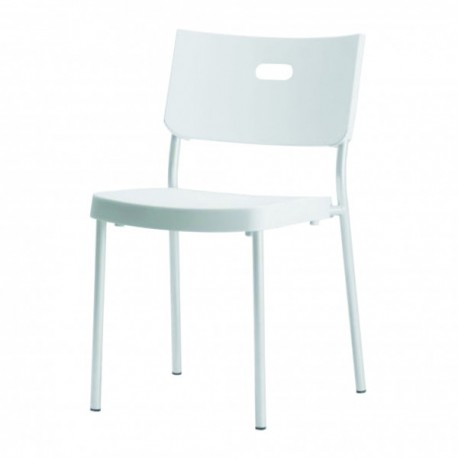 Chaise blanche stackable