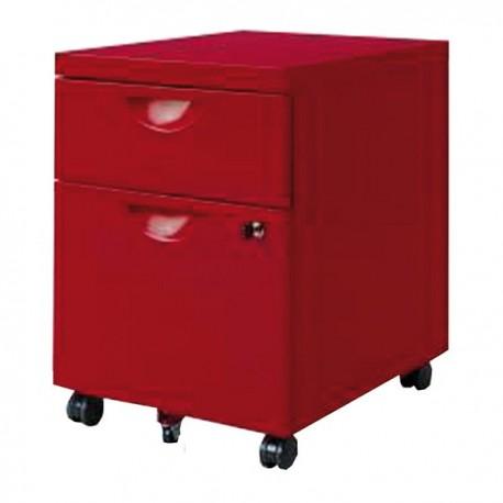 Caisson de bureau rouge Karfe