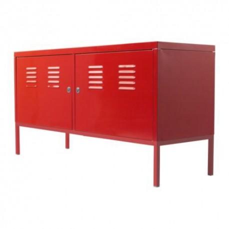 Armoire de rangement métallique Skapis rouge