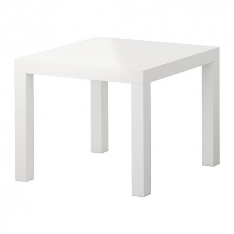 Table basse Otsika blanc brillant