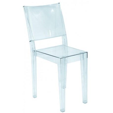 Chaise design en plexiglas transparent