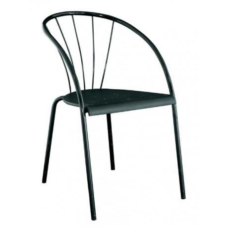 Chaise en métal noir