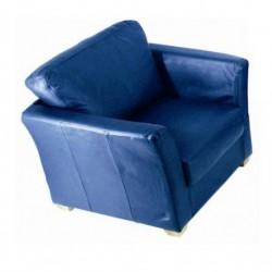 Fauteuil cuir bleu Azul