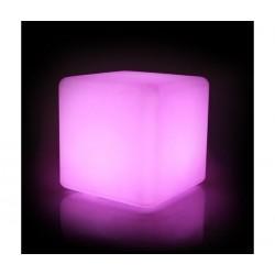 Pouf cube lumineux