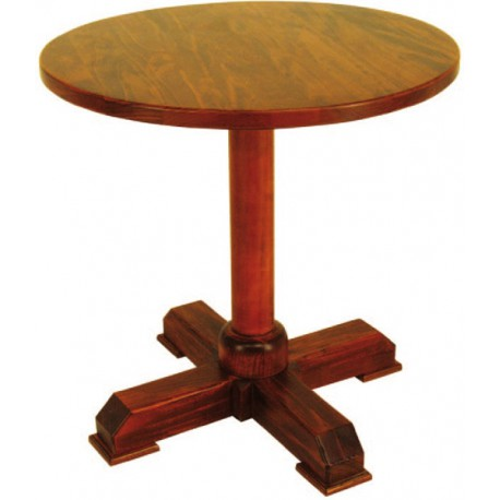 Table ronde en bois Taberna