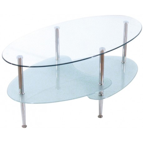 Table basse Ovalis blanche