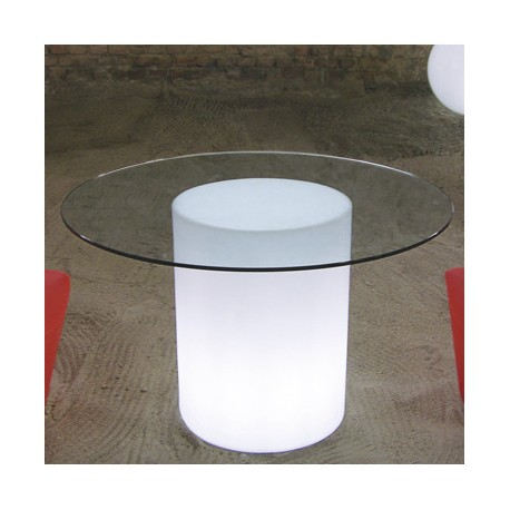 Table ronde en verre Marama