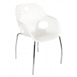 Chaise blanche Rostalis