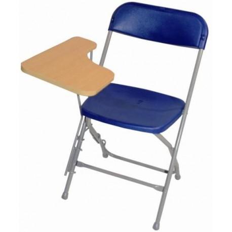 Chaise pliante avec tablette examen
